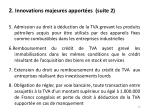 2 innovations majeures apport es suite 2