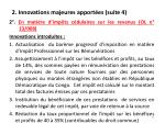 2 innovations majeures apport es suite 4