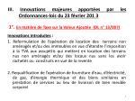 iii innovations majeures apport es par les ordonnances lois du 23 f vrier 201 3