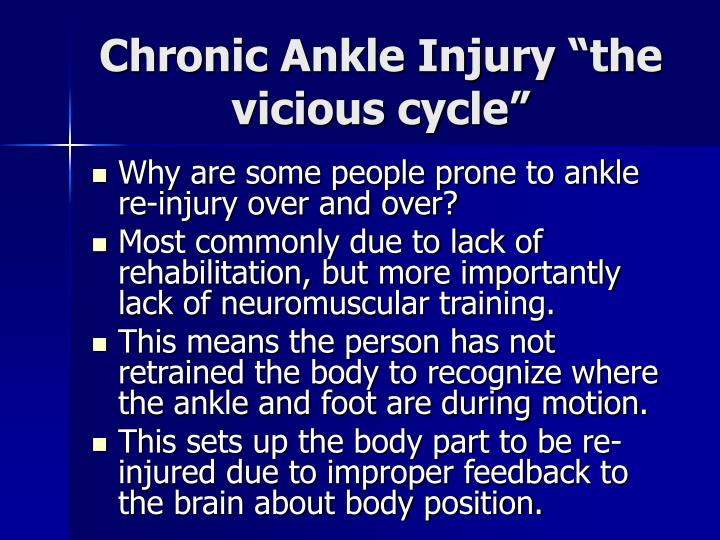 "Chronic Ankle Injury ""the vicious cycle"""