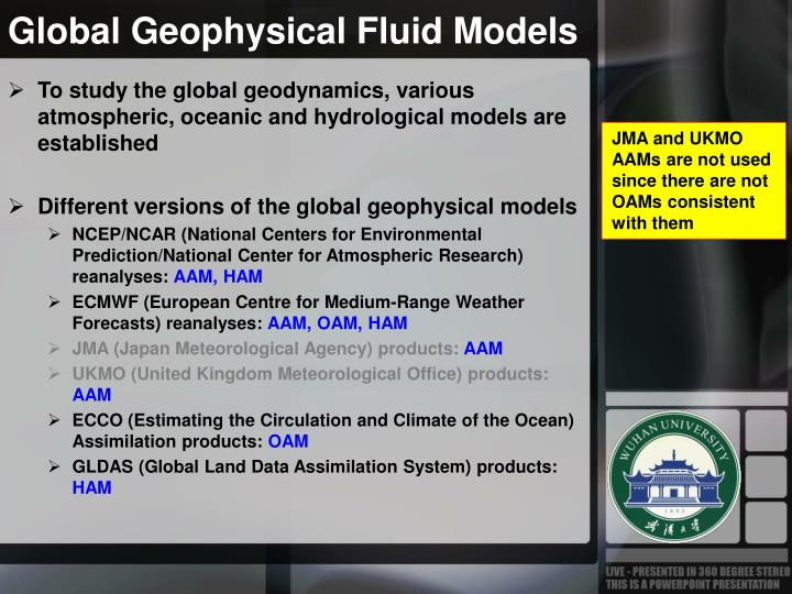 Global Geophysical Fluid Models