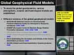 global geophysical fluid models