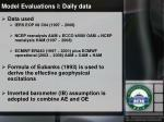 model evaluations i daily data