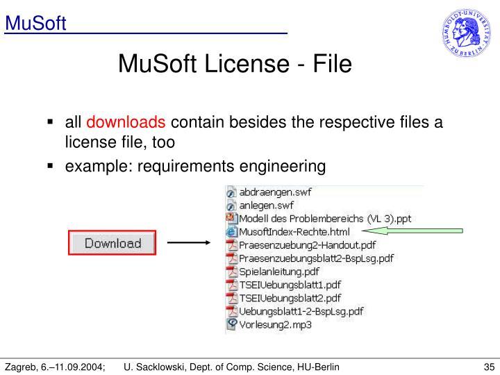 MuSoft License - File