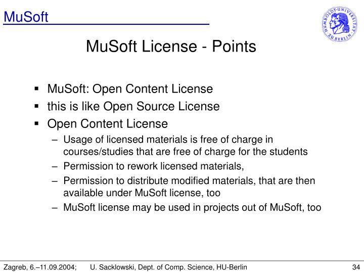 MuSoft License - Points