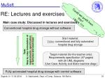 re lectures and exercises