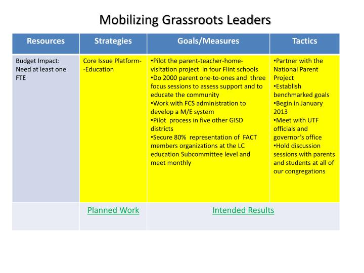 Mobilizing Grassroots Leaders