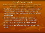 legal framework rules governing limitation on movement emergency restraint other rules continued1