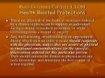rules governing category 4 lom health related protections