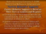 rules governing category 5 lom restrictive behavioral interventions positive behavioral supports1