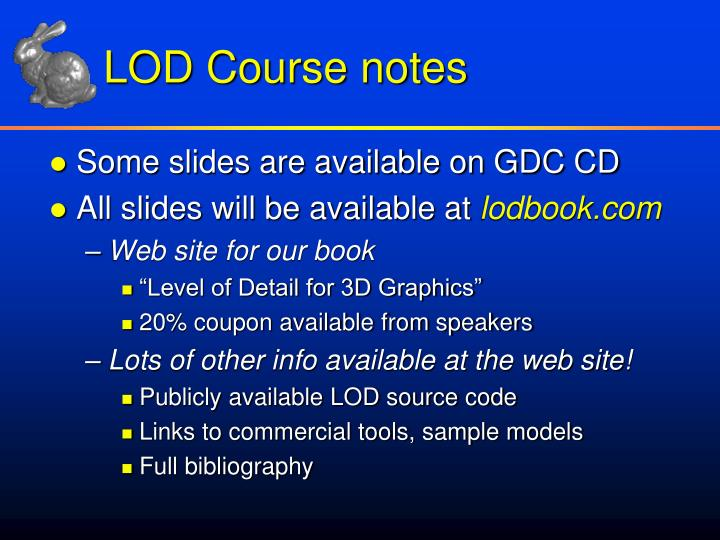 LOD Course notes