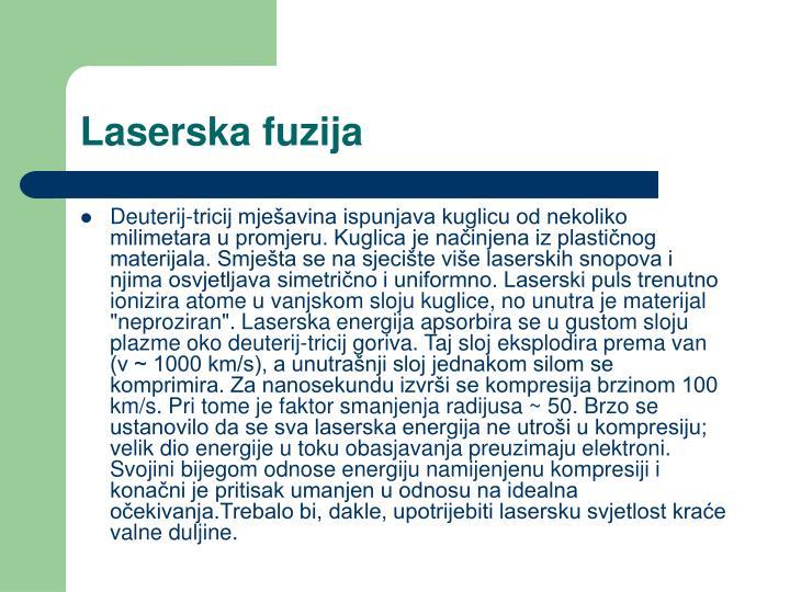 Laserska fuzija