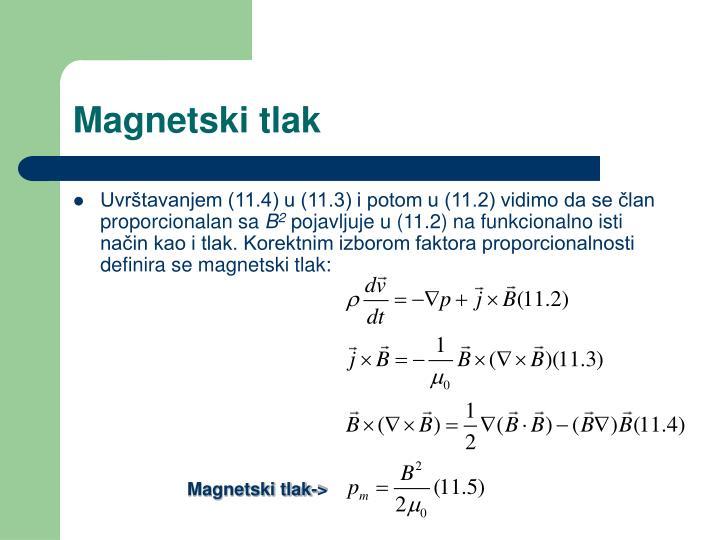 Magnetski tlak