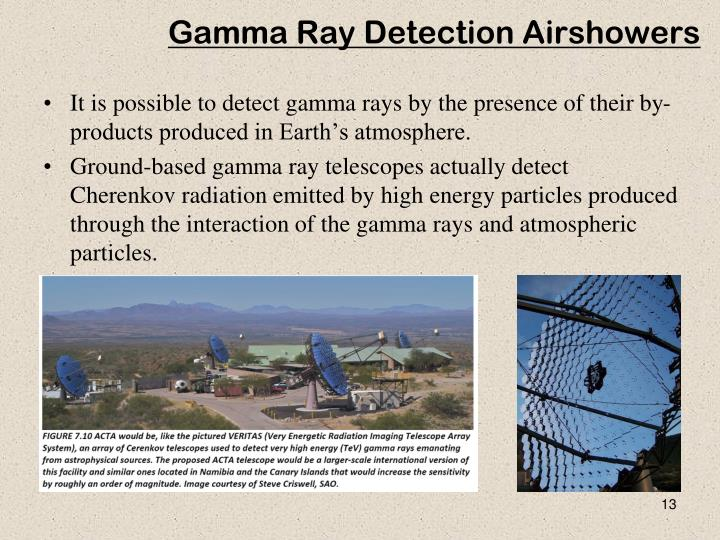 Gamma Ray Detection Airshowers