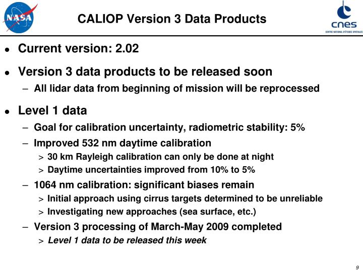 CALIOP Version 3 Data Products