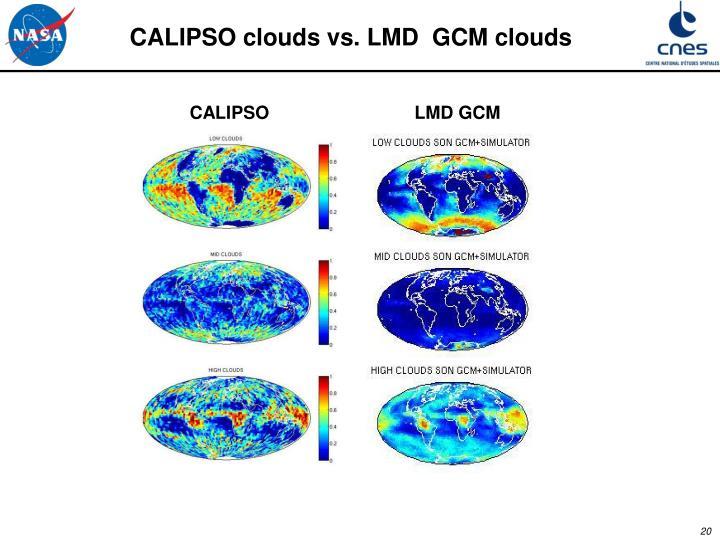 CALIPSO clouds vs. LMD  GCM clouds