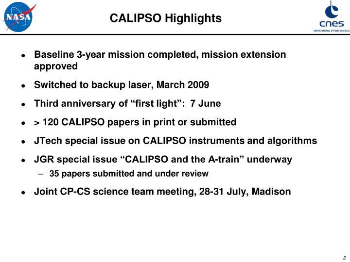 CALIPSO Highlights