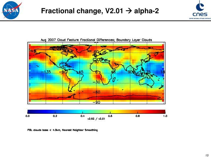 Fractional change, V2.01