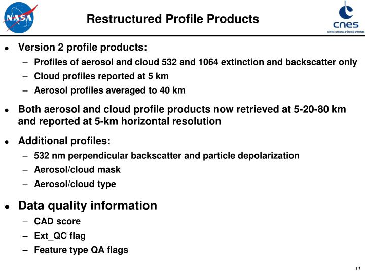 Restructured Profile Products