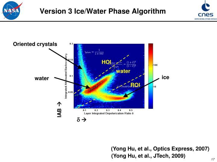 Version 3 Ice/Water Phase Algorithm