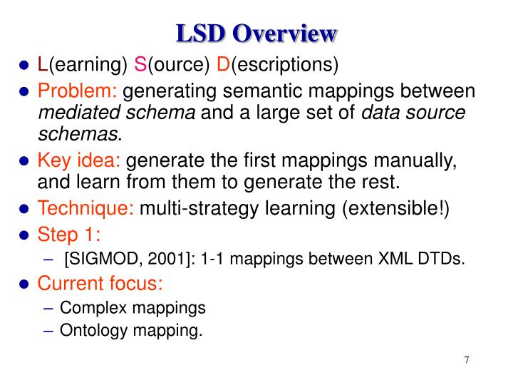 LSD Overview