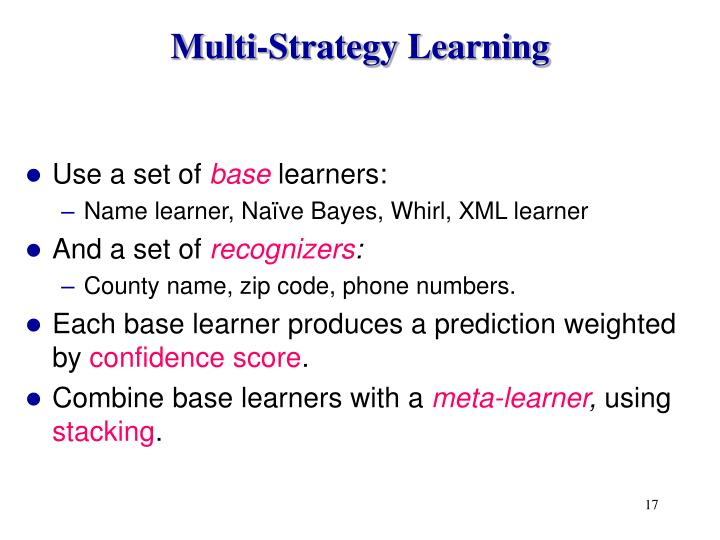 Multi-Strategy Learning