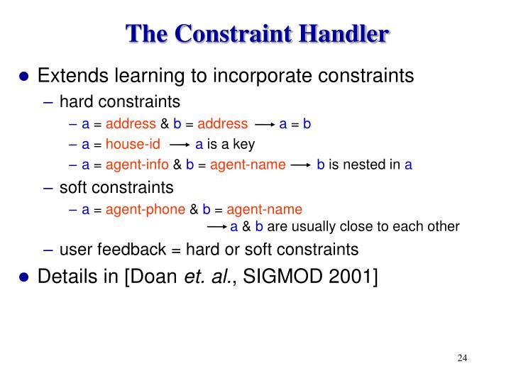 The Constraint Handler