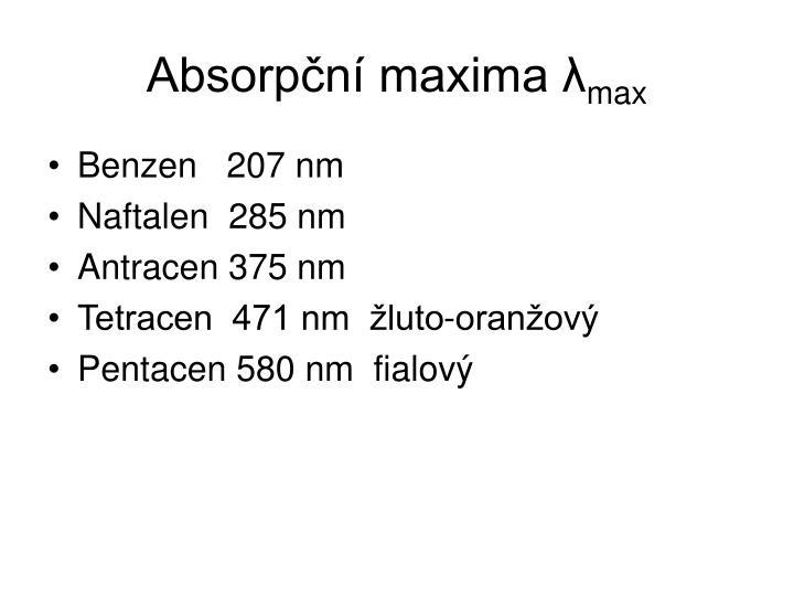 Absorpční maxima