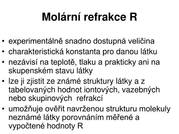 Molární refrakce R