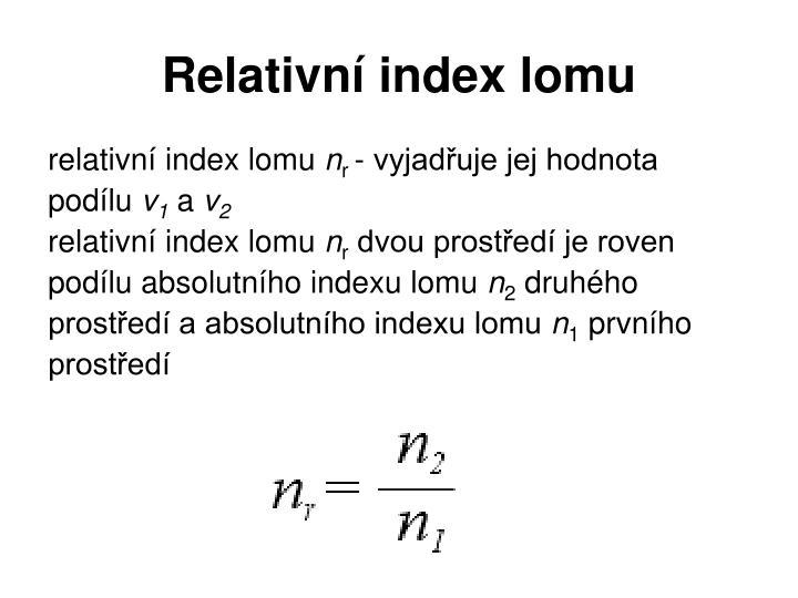 Relativní index lomu
