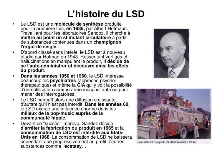 L'histoire du LSD