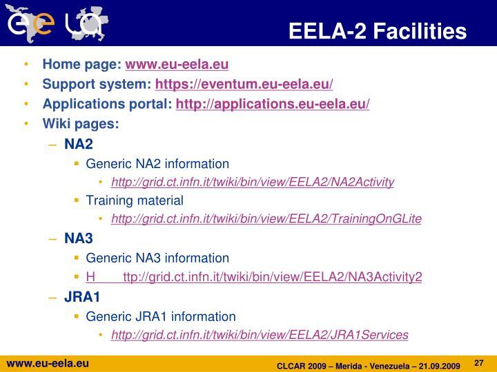 EELA-2 Facilities