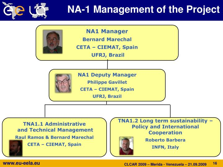 NA-1 Management of the Project
