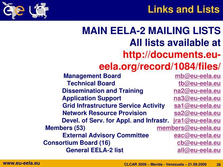 Links and Lists