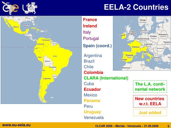 EELA-2 Countries