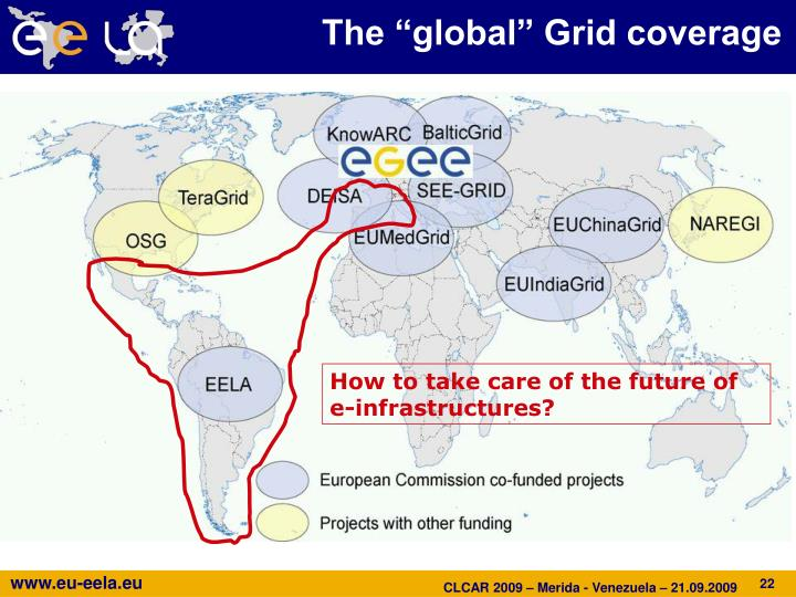"The ""global"" Grid coverage"