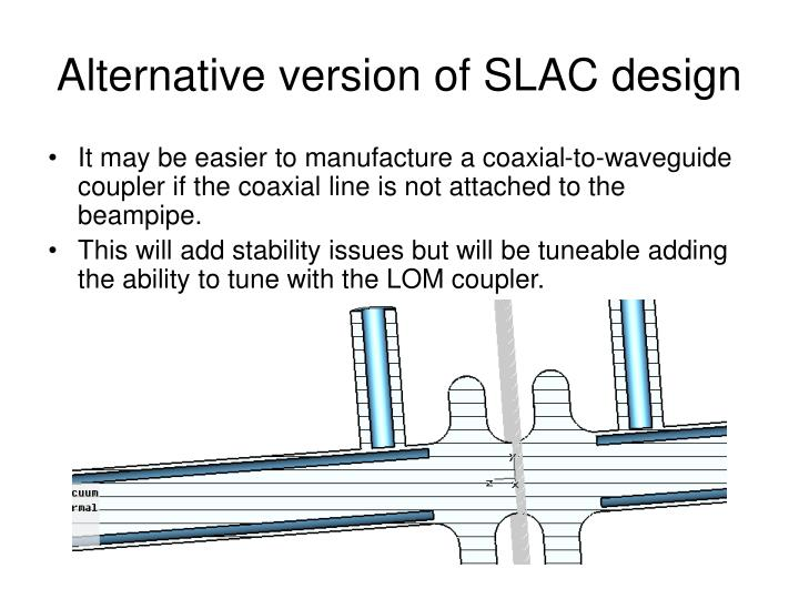 Alternative version of SLAC design