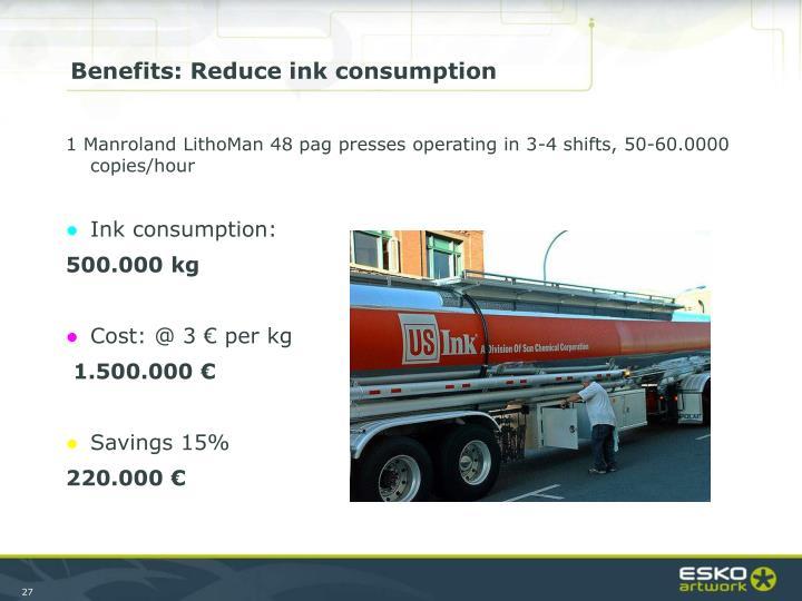 Benefits: Reduce ink consumption