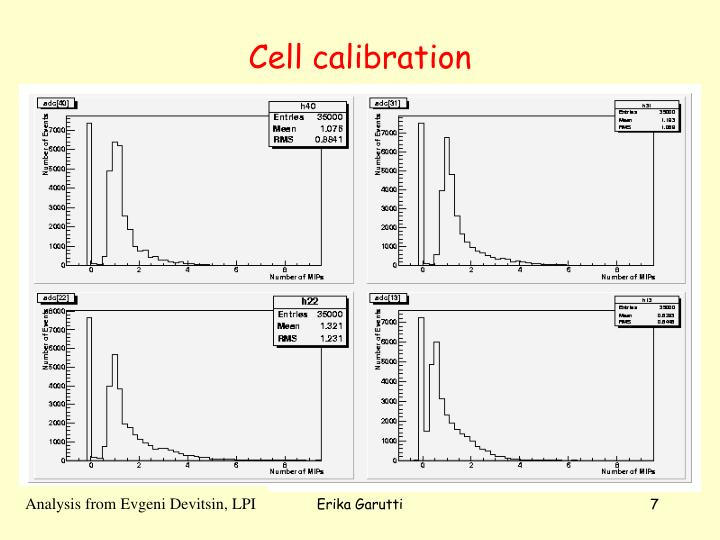 Cell calibration