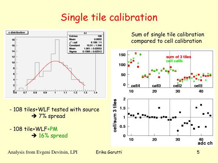 Single tile calibration