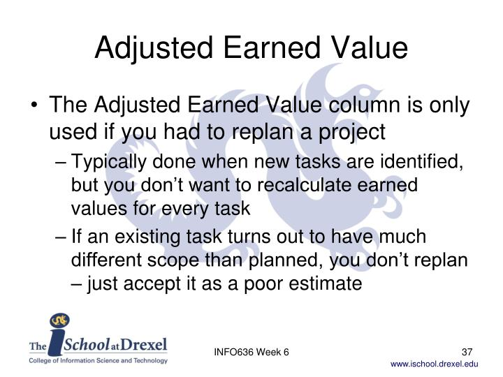 Adjusted Earned Value