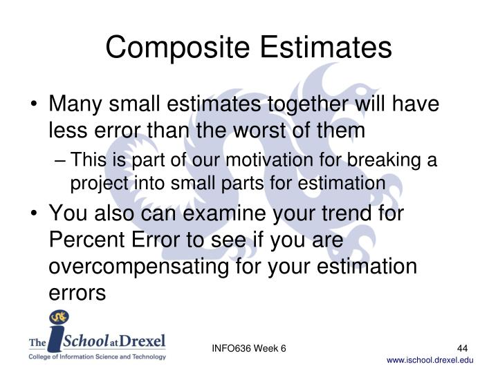 Composite Estimates