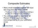 composite estimates