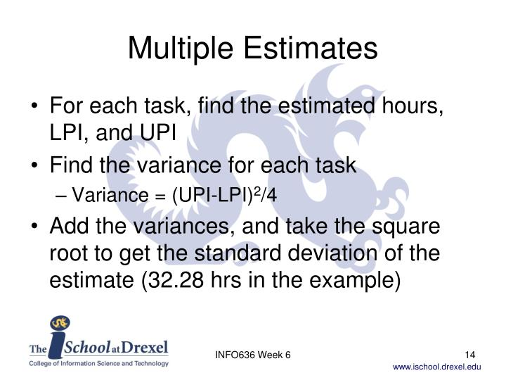 Multiple Estimates