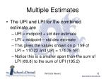 multiple estimates3