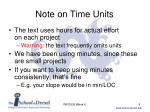 note on time units