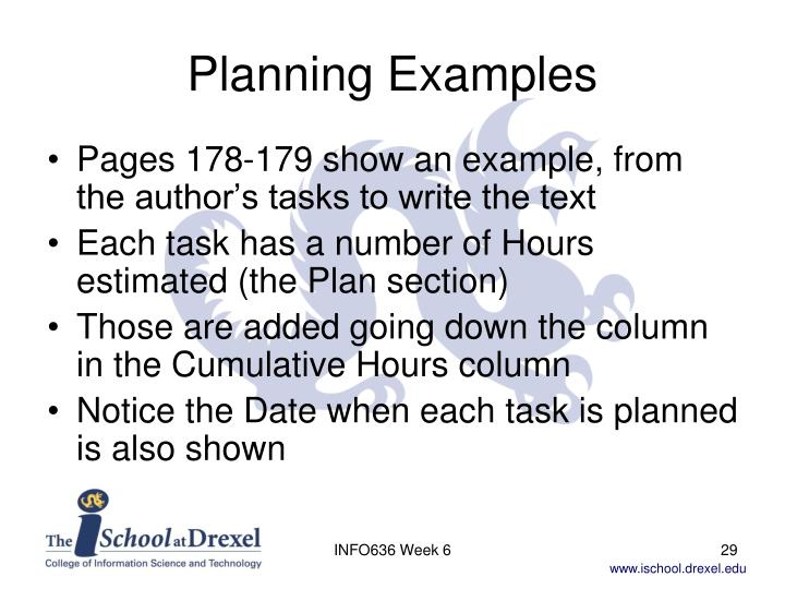 Planning Examples