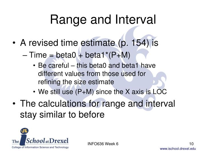 Range and Interval