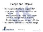 range and interval1