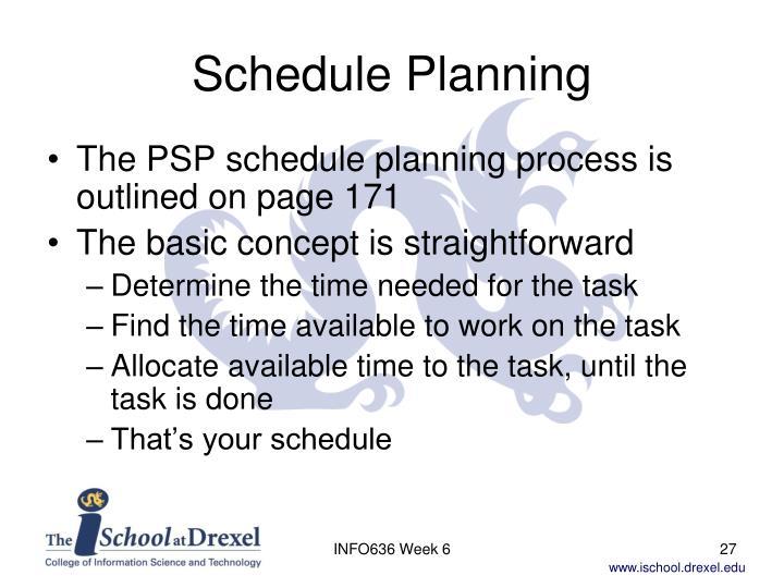 Schedule Planning